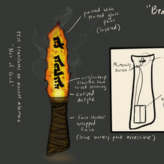 Red-Hot Stone Ritual Knife design