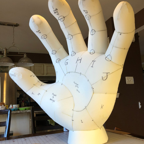 Giant Basketball Hands