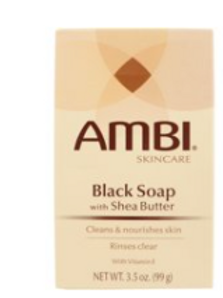 AMBI SOAP BLACK SOAP WITH SHEA BUTTER 3.5 OZ