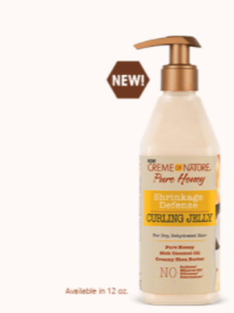 CREME OF NATURE PURE HONEY SHRINKAGE DEFENSE CURLING JELLY