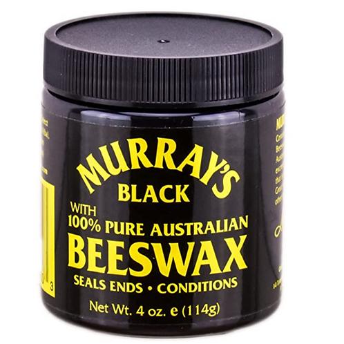 MURRAY'S BLACK 100% PURE AUSTRALIAN BEES WAX  EDGE WAX 4 OZ