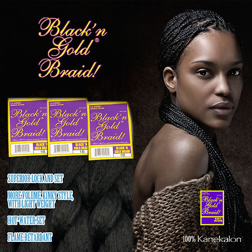 BLACK N GOLD CLASSIC SOFT BRAID