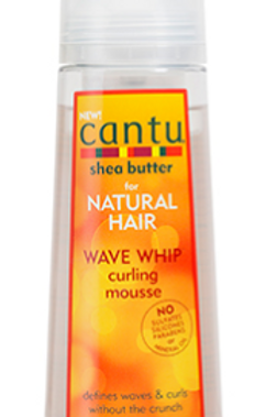 CANTU SHEA BUTTER NATURAL HAIR WAVE WHIP CURLING MOUSSE 8.4 OZ