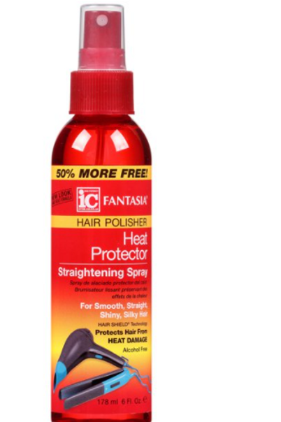FANTASIA IC HAIR POLISHER HEAT PROTECTOR STRAIGHTENING SPRAY 6 OZ SPRAY
