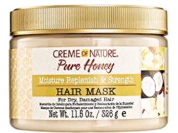 CREME OF NATURE PURE HONEY MOISTURE REPLENISH & STRENGTH HAIR  MASK 11.6 OZ