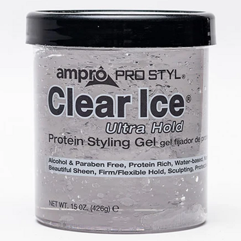 AMPRO CLEAR ICE STYLING GEL -ULTRA HOLD