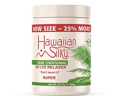HAWAIIN SILKY CREME CONDITIONER NO LYE RELAXER-SUPER 20 OZ
