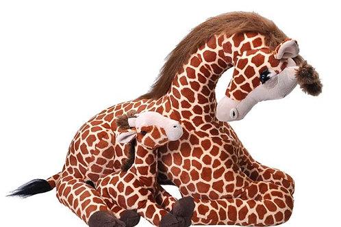 Girafe maman et bébé - 75 cm