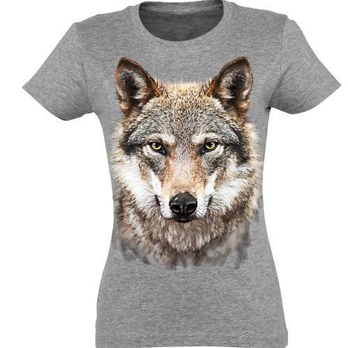 Tee-shirt femme loup