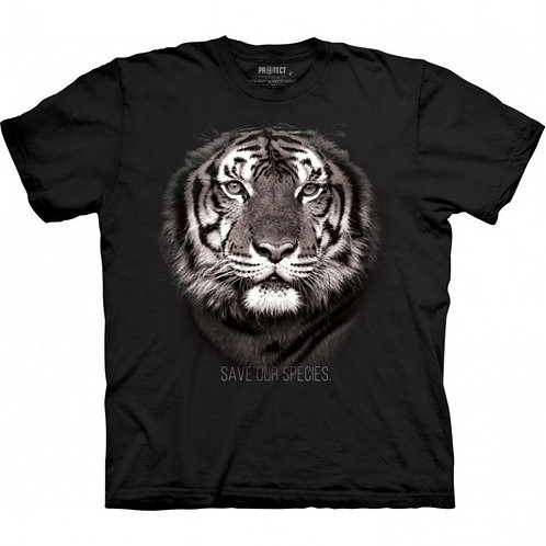 Tee-shirt Unisexe Tigre Noir - The Mountain
