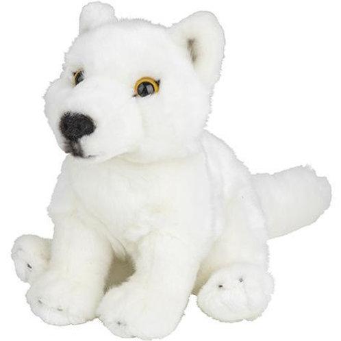 Loup blanc 18 cm