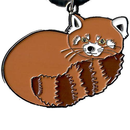 Porte-clés métal - panda roux