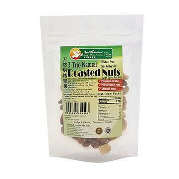 Trio Natural Roasted Nuts - Celtic Sea Salt 100gm