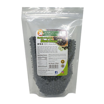 Organic Black Beans (Green Flesh) 500gm