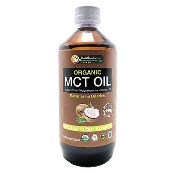Health Paradise Organic MCT Oil 250ml.jpg Medium Chain Triglycerides from Coconut Oil