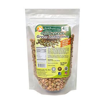 Organic Green Lentils (Whole) 250gm