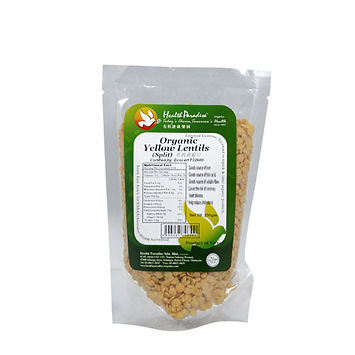 Organic Yellow Lentils (Split) 250gm