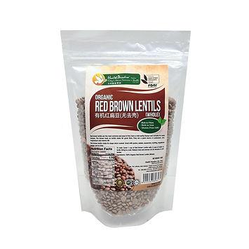 Organic Red Brown Lentils 250gm
