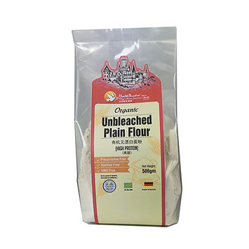 Organic Unbleached Plain Flour (High Protein) 500gm