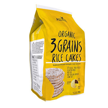 Organic 3 Grains Rice Cakes 76gm