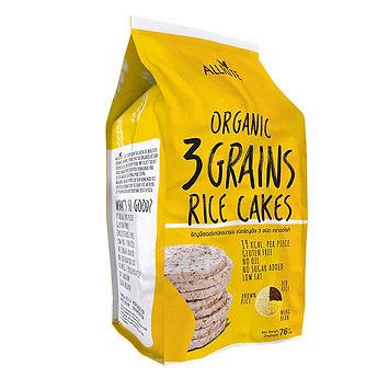 Organic 3 Grains Rice Cakes 76gm