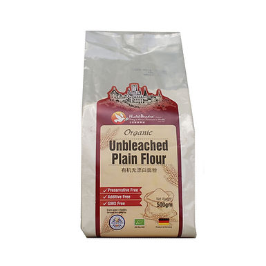 Organic Unbleached Plain Flour 500gm