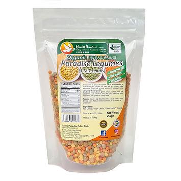 Organic Paradise Legumes (3 Mix Lentils) 250gm