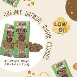 Organic Oatmeal Raisin Cookies