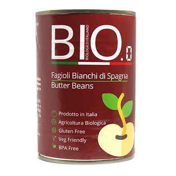 Organic Butter Beans 400gm Can