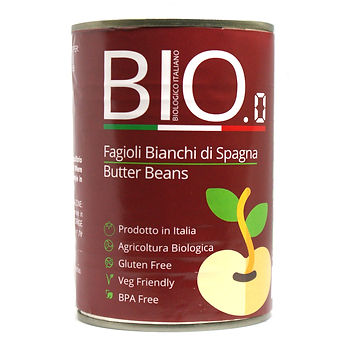 Organic Butter Beans 400gm Can