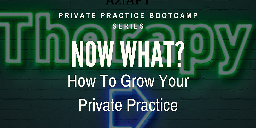 Private Practice-Now What?