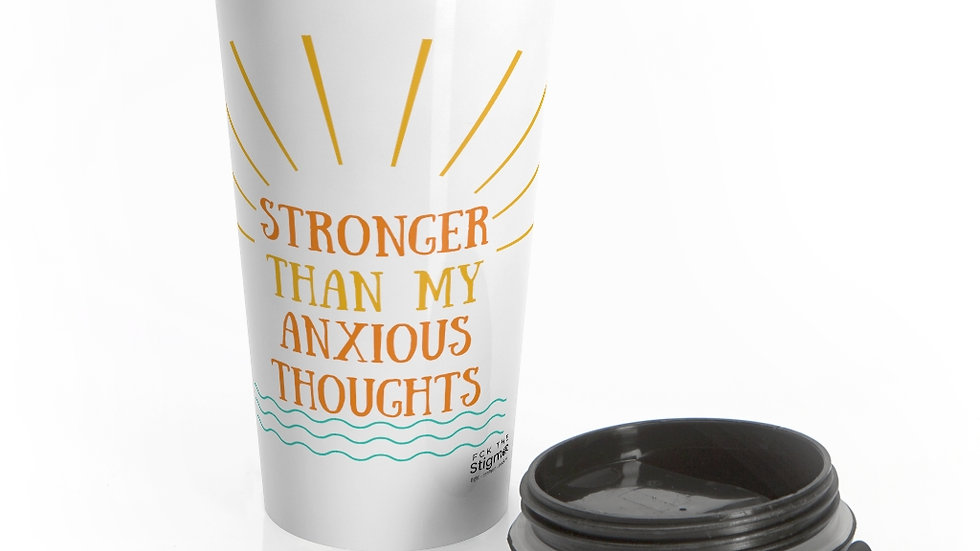 Anxious Thoughts Stainless Steel Travel Mug