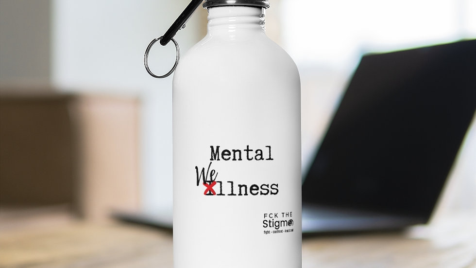Mental Wellness Stainless Steel Water Bottle