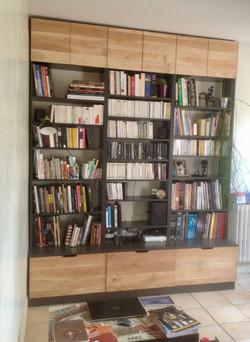 Bibliothèque Chêne / panneaux