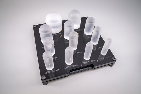 Acrylic Cylinder/Dome Forms with Rack and Reference