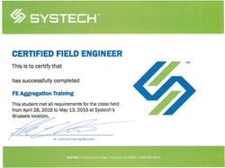 Field Engineer Certificate