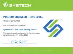 Project Engineer Certificate