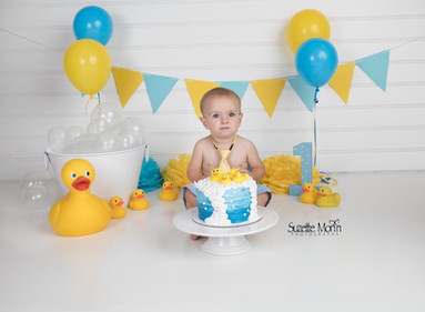 cake smash rubber duckie