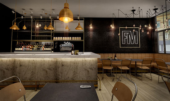 The Farmers mistress, Interior Designes, london, Dtwo design, Industrial, Marble, Coffee shop design