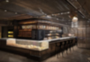 Wrights of Londo, London Docks, Industrial, Interior design, Premium, Marble counter, cool coffee shop