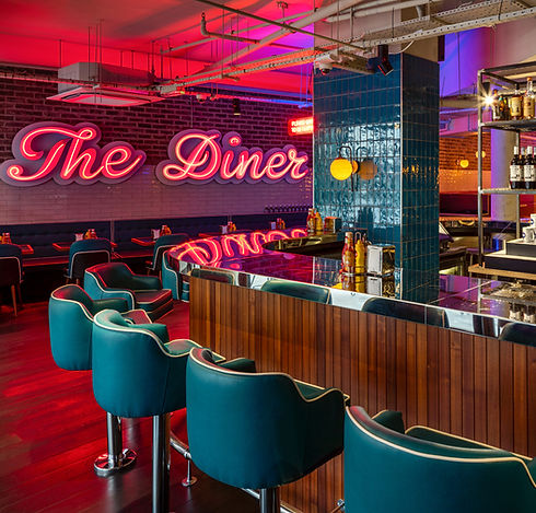 Interior Designers, The Diner Southampton, Restaurant and Bar design Award