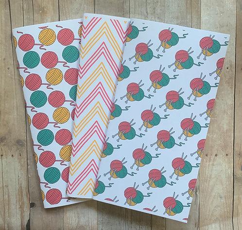Nothing But Yarn Notebooks-3Pk