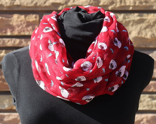 Baa Infinity Scarf-Red