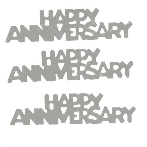 confetti word happy anniversary silver 7861