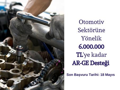 OTOMOTİV SEKTÖRÜNE 6.000.000 TL DESTEK