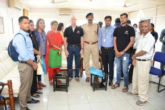 With Telangana State police Deputy Commissioner and Deputy Commissioner SHE Team