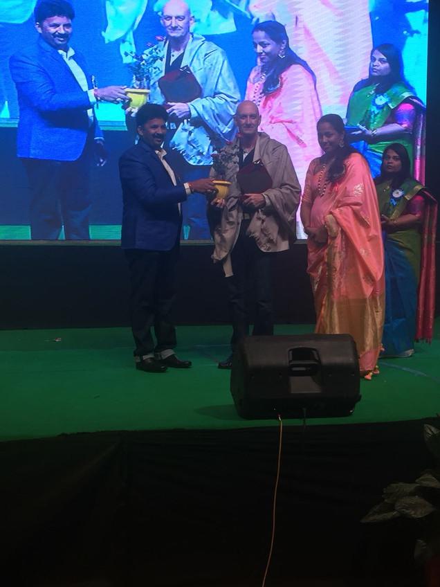 Receiving Award at Dr.Mohan School's  Program