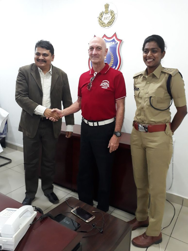 With Commissioner Of Police @ Hyderabad
