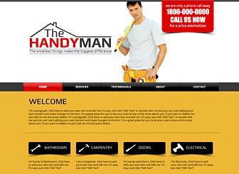 Handyman Website Template   WIX