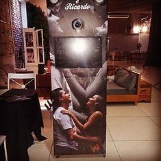 Relca e Ricardo_Totem fotografico com gu